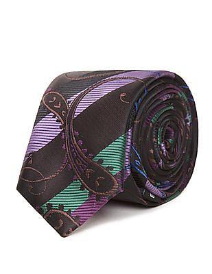 Excalibur Paisley Print Microfibre Tie