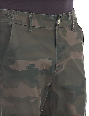 Flying Machine Slim Fit Camo Print Trousers