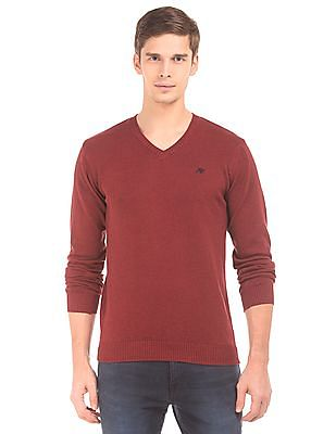 Aeropostale Long Sleeve V-Neck Sweater