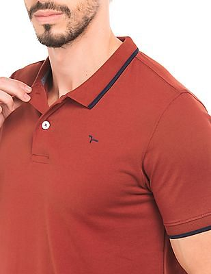 Flying Machine Tipped Polo Shirt