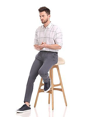 Flying Machine Super Slim Fit Flat Front Trousers