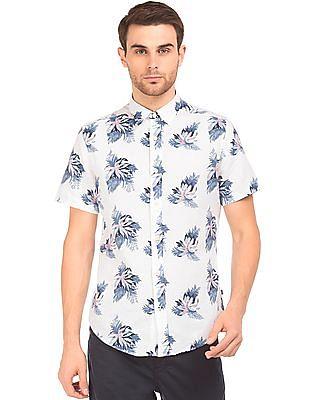 Nautica Floral Print Short Sleeve Shirt