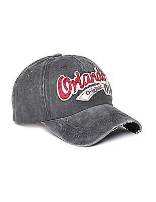 Colt Appliqued Front Washed Cap
