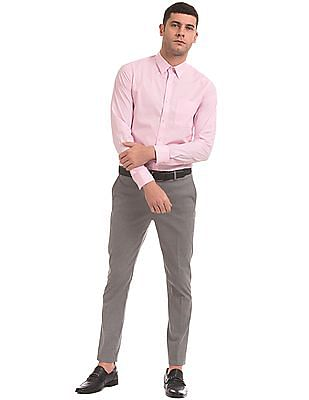 USPA Tailored Solid Tailored Fit Shirt