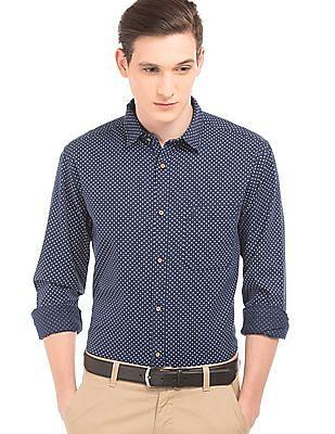 Izod Dot Print Slim Fit Shirt