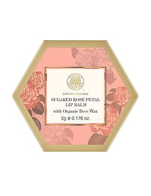 Forest Essentials Sugared Rose Petal Rose & Honey Lip Balm, 5 GM