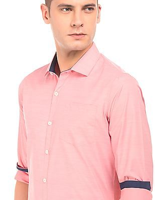 Excalibur Slim Fit Patterned Shirt