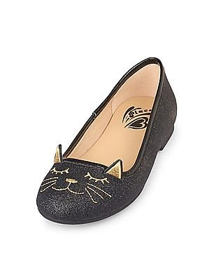 The Children's Place Girls Cat Graphic Kayla Ballet Flat
