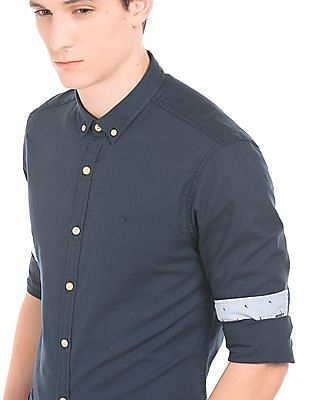 Flying Machine Button Down Oxford Shirt