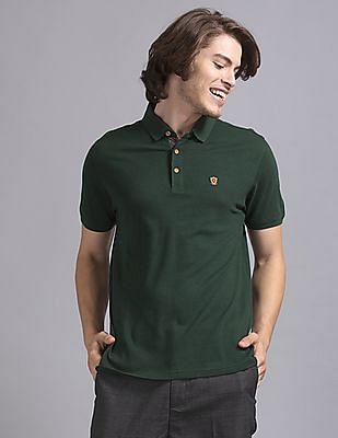 True Blue Green Cotton Modal Pique Polo Shirt
