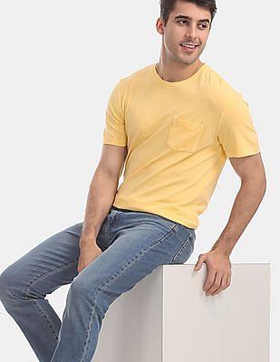 GAP Yellow Vintage Wash Pocket T-Shirt