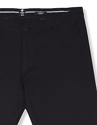 Ruggers Blue Urban Slim Fit Patterned Trousers