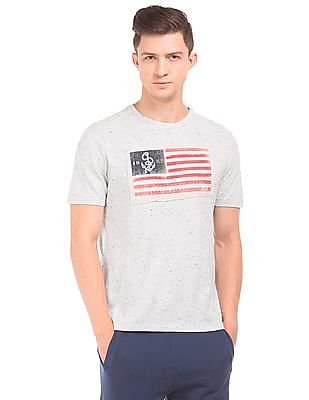 Aeropostale Speckled Regular Fit T-Shirt