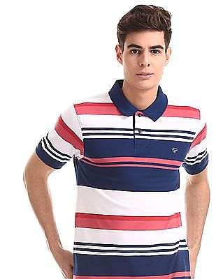 Ruggers Blue Striped Pique Polo Shirt