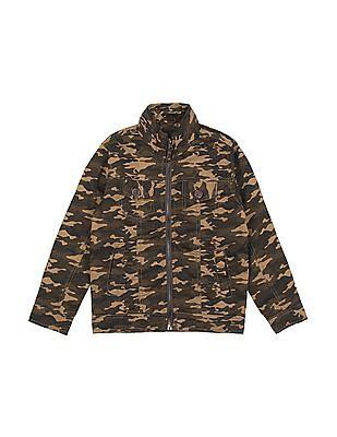Cherokee Boys Camo Print Utilitarian Jacket