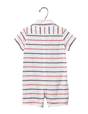 GAP Baby White Americana Stripe Shortie One Piece