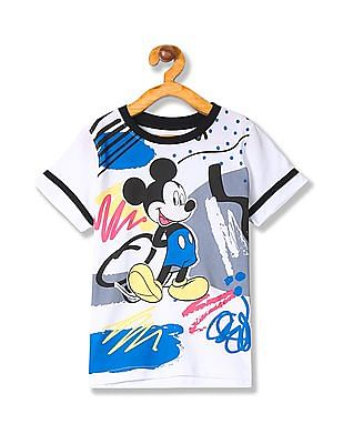 Colt Boys Mickey Mouse Print Cotton T-Shirt