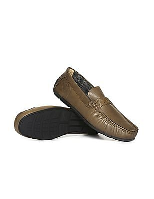 U.S. Polo Assn. Braided Strap Leather Loafers