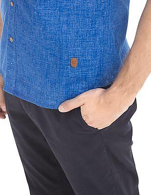 True Blue Slim Fit Slubbed Shirt