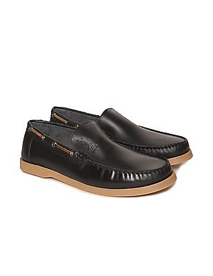 U.S. Polo Assn. Round Toe Leather Loafers
