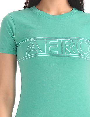 Aeropostale Printed Chest Crew Neck T-Shirt