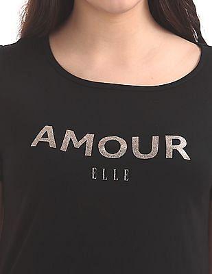Elle Studio Graphic Print Longline T-Shirt