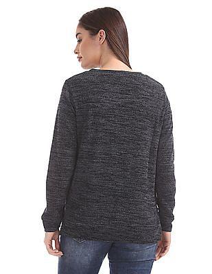Cherokee Heathered Crew Neck Sweater