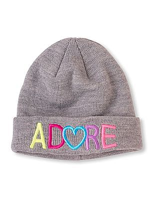 The Children's Place Girls Adore Embroidered Beanie