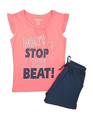 Cherokee Girls Cotton Top And Shorts Set