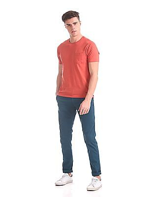 Cherokee Slim Fit Flat Front Trousers