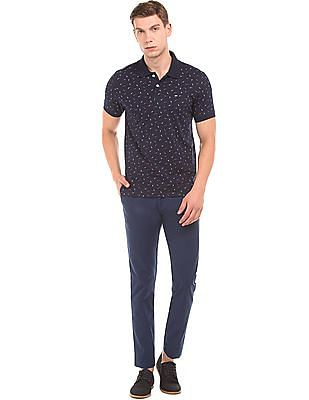 Arrow Sports Slim Fit Brushed Cotton Trousers