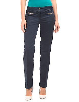Nautica Solid Low Rise Pants