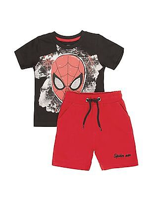Colt Boys Spiderman Print T-Shirt And Shorts Set