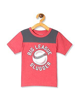 The Children's Place Red Toddler Boy Baseball Print T-Shirt