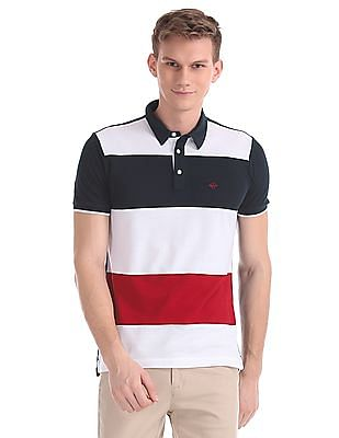 Arrow Sports Regular Fit Colour Blocked Polo Shirt