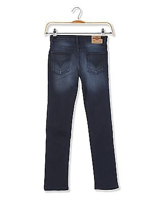 FM Boys Boys Skinny Fit Washed Jeans