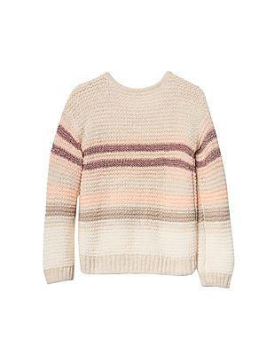 GAP Baby Shimmer Stripe Garter Sweater
