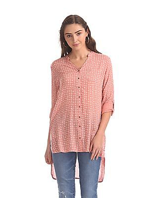 Cherokee Pink Floral Print Shirt Tunic