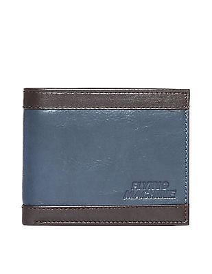Flying Machine Colourblocked Leather Bi-Fold Wallet