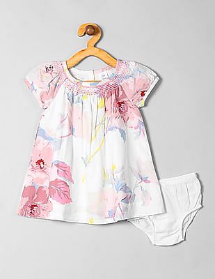 GAP Baby Floral Puff-Sleeve Dress