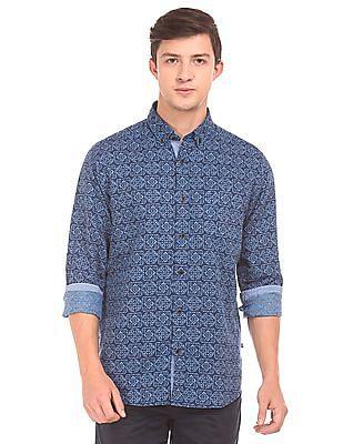 Nautica Bandana Printed Cotton Linen Shirt
