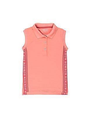 Cherokee Girls Sleeveless Active Polo Shirt