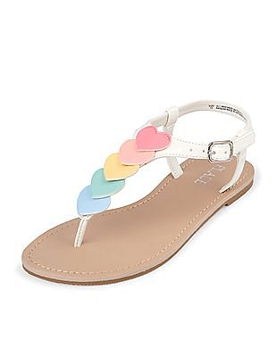The Children's Place Girls Heart T-Strap Sandals