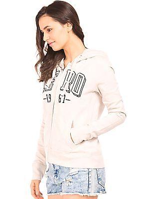 Aeropostale Hooded Embroidered Sweatshirt
