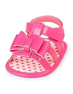 The Children's Place Baby Patent Bow Sandals