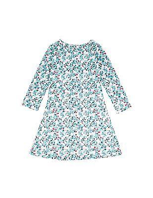 Cherokee Girls Floral Print Lace Dress