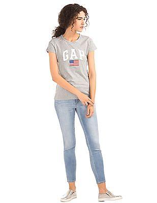 GAP Brand Print Melange T-Shirt