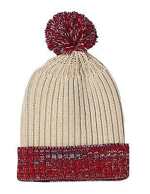 Cherokee Beige Knit Pom Pom Beanie