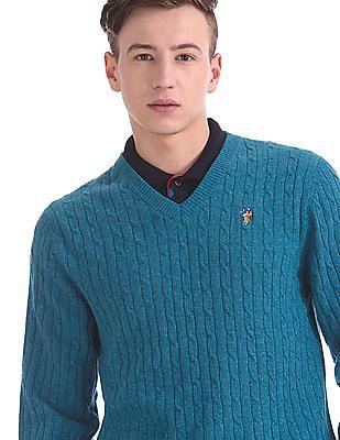 U.S. Polo Assn. Regular Fit Patterned Knit Sweater