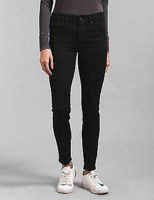 GAP Mid Rise Stud Front True Skinny Jeans